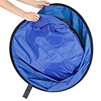 COOPIC 5 x 6.5FT / 1.5 x 2M Photo Collapsible Reversible Two Sides Chromakey Green Blue Background Panel