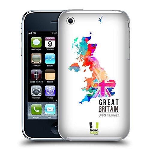 Head Case Designs Land Down Under Australien Aquarell Karten Snap-on Schutzhülle Back Case für Apple iPhone 6 4.7 Land Of The Royals Grossbritannien