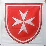 BANDERA del ESCUDO SOBERANA ORDEN DE MALTA 90x90cm para palo - BANDERA EJERCITO DE FRANCIA 90 x 90 cm - AZ FLAG