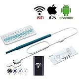 Ohr-Reinigungs-Endoskop-Kamera, Visueller Ohr-USB-Löffel, Iphone Android WIFI Otoskop-Ohr-Gesundheits-Inspektions-Videokamera,Blue