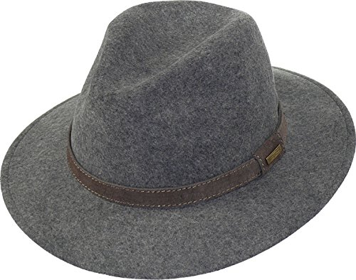 Rollbarer Hut in 3 Farben, Farben:grau, Kopfgröße:59