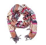 Bufanda mujer pashmina bufanda de moda pañuelo chal para mujer (Rosa)
