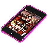 Amzer Cover posteriore in gel con motivo a rombi per iPod Touch 2G/3G, colore: Viola