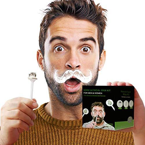AcserGery Nose Wax Nasenwachs Nasal Hair Removal Nasenwachs Set Nasenhaare Wachs Nasenhaarentferner für Herren und Damen