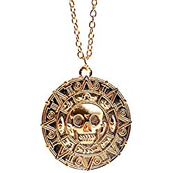 Monedas de piratas para pulsera o collar y forma de calavera.
