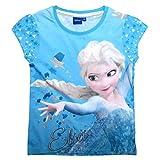 Frozen - Die Eiskönigin T-Shirt Kollektion 2018 Shirt 98 104 110 116 122 128 Mädchen Kurzarmshirt Anna ELSA Disney (Blau, 110-116)