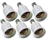 ongyee (TM) 6 pz E14 a E27 presa convertitore, ES CFL a SES estendere portalampada base, attacco a vite piccolo Edison grande vite di adattatore per LED smart RGB Playbulb musica fase disco Ball lampadina altoparlante,