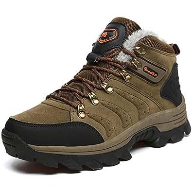 Super Lee Trekking Wanderschuhe Rutschfeste Wasserdicht Abriebfeste Sohle Winterstiefel Outdoor Walking Sneaker für Herren Braun 44 HVq7aV0DvX