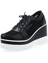 Red hueca transpirable zapato/Zapatos de cuñas/Correa plataforma zapatos/Zapatos de suela gruesa/Zapatos de aumento de altura/Casual de mujer zapatos tacón chica/Zapatos ocasionales de primavera