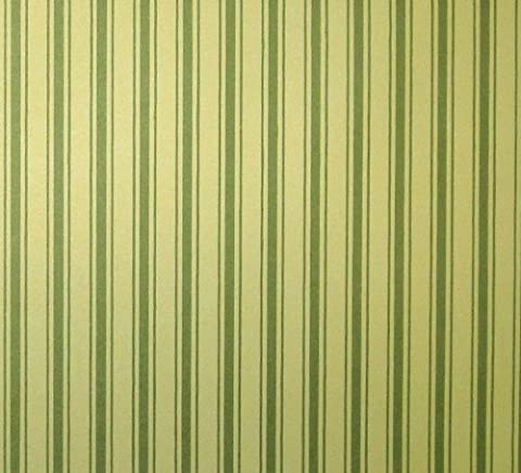 Tapete, grüne Streifen für das Puppenhaus