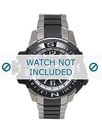 Correa de reloj Seiko 7s36 02k0/SKZ319K1 straat/Zwart (no un reloj incluido. Correa de reloj original solamente)