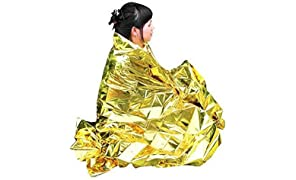 Enem Emergency Mylar Thermal Blankets Heavy Duty Large (160 X 210 cm (5.24 feet x 6.88 feet)) for Safety & Survival During Camping, Outdoor Sports, Hiking, Travel, Tent, Bag, Rain