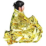 [Sponsored]Enem Emergency Mylar Thermal Blankets Heavy Duty Large (160 X 210 Cm (5.24 Feet X 6.88 Feet)) For Safety & Survival During Camping, Outdoor Sports, Hiking , Travel, Tent, Bag, Rain