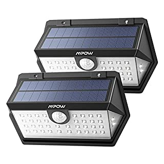 LED Solar Light, Super Bright [2018 New Model] Solar Powered Security Lights with 120° Wide-Angle Motion Sensor,