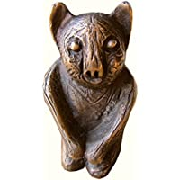 Hühner Panda BÄr Bronze Figur Auf Marmorsockel Bronze Sculpture Bear
