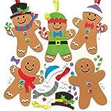 """Baker Ross Weihnachtliches Mix & Match-Dekoset """"Lebkuchenmännchen"""" für Kinder – für weihnachtliche Bastelarbeiten und Dekorationen (6 Stück)"""