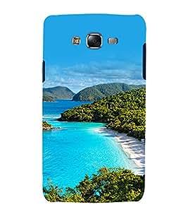 printtech Nature View Beach Lagoon Back Case Cover for Samsung Galaxy J5 / Samsung Galaxy J5 J500F