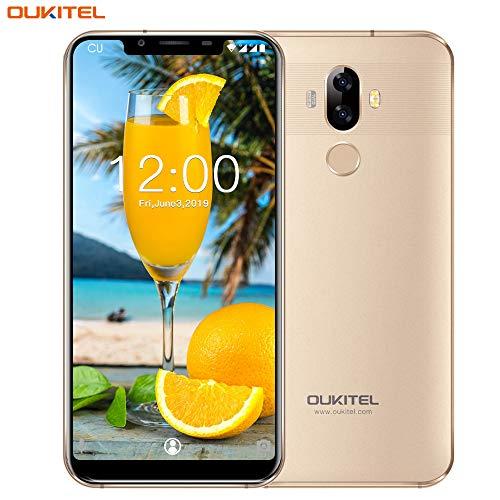 Offerte Cellulari,OUKITEL U18 4G LTE Smartphone,5.85' FHD+ 21:9 Schermo,Fotocamera 16MP+5MP+13MP,4GB RAM+64GB ROM(Espandibile 128GB),Android 7.0 Dual Sim Telefono Cellulare,4000mAh,GPS,Face ID (Oro)