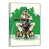 Terence Hill Bud Spencer Leinwand - Das Krokodil und sein Nilpferd - Kunstdruck Renato Casaro Edition (60 x 80 cm)