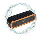 Andoer® Altavoz Estéreo 10W Bluetooth 4.0 Wireless Inalámbrico Al Aire Libre Manos Libres con Funciones de LED Linterna para Viajar / en Bici (Naranja