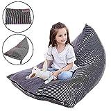 Womdee Sitzsack mit Kristallsamt, gefüllt, Tier-Aufbewahrung, weicher Spielzeugbeutel, Organizer, bequemes Sitzsofa, für bequemes Liegenbett für Kinderzimmer
