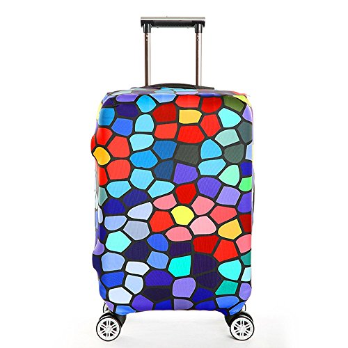 Elastisch Kofferschutzhülle Kofferhülle Kofferbezug Reisekoffer Hülle Kofferschutz Gepäck Luggage Cover mit Reißverschluss für 25-28 Zoll L