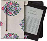 Jaipur Classic Cotton/Paper Cover Pouch for Paperwhite Kindle/Touch (White Floral)