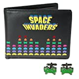 50fifty Concepts Space Invaders Cufflinks and Wallet in a Set by 50Fifty Concepts