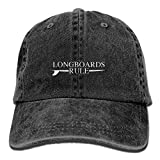Have you shop Longboards Rule Surfing Unisex Adjustable Cotton Denim Hat Washed Retro Gym Hat Cap Hat