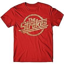 Herren-T-shirt The Strokes - Grunge Logo rock 100% baumwolle LaMAGLIERIA