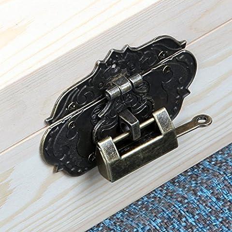 AQPDJ La reconstruida para manejar el escritorio antiguo cartucho de admisión con Bloqueo caja de almacenamiento diario secreto chasis logs , Cuadro de bloqueo pequeño candado