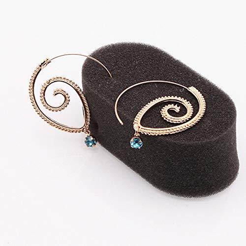 LEIANDYAN Böhmen Persönlichkeit Runde Spiral Ohrringe übertrieben Gold Farbe Whirlpool Gear Ohrringe für Frauen Schmuck Opale Spiral