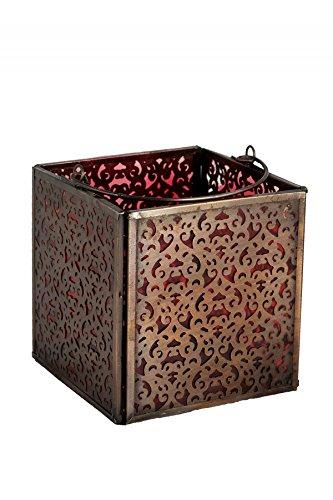 Orientalisches Glaswindlicht Windlicht Kerzenhalter Akshita Akshita rot