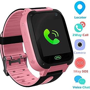 Jslai Niños Smartwatch Relojes,LBS Tracker Telefono de Alarma SOS Infantil Relojes de Pulsera Cámara Reloj móvil Mejor Regalo para niños de 3-12 años ...