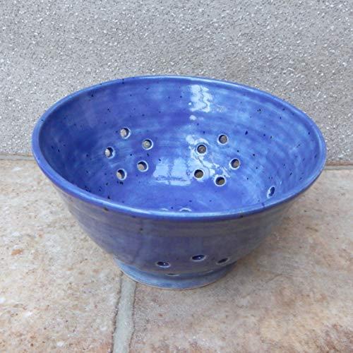 Berry bowl or colander wheel thrown stoneware pottery ceramic handmade drainer handthrown