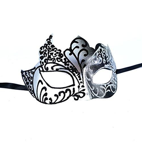 Silber und Schwarz Capulet Herren venezianischen Masquerade Maske–Klassisches Design