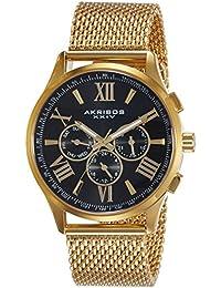 Akribos XXIV Analog Black Dial Men's Watch-AK844YGB