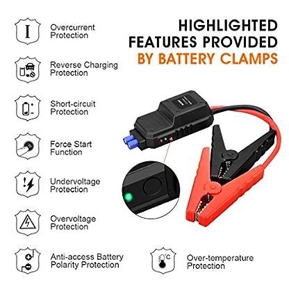 51SByzIyDhL. SS416  - SUAOKI u282000A Punta De Auto Arranque batería de Arranque, con USB Power Bank, Pantalla LCD