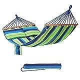 SONGMICS Hamac 210 x 150 cm chaise avec 2 oreillers Charge maxi 300 kg GDC22L