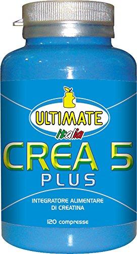 Ultimate Italia Crea 5 Plus 5 Tipi di Creatina - 120 Compresse