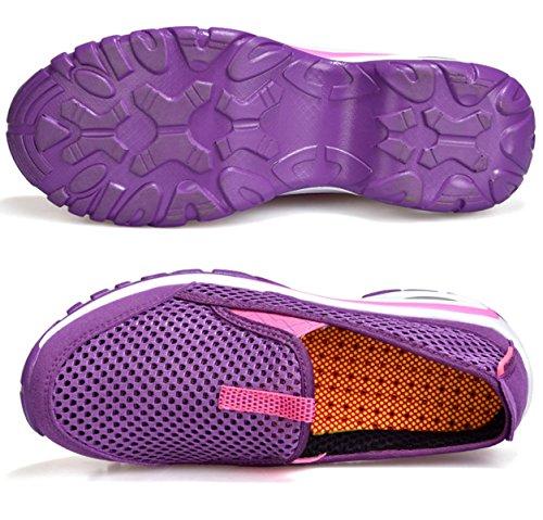 LXXAWomen Estate Spiaggia Maglia Respirabile Sandali Di Sport Asciugatura Rapida Scarpe Da Trekking Scarpe Da Tennis Atletico Purple