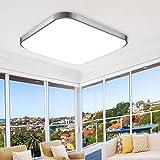MCTECH 18W Kaltweiß LED Deckenleuchte Modern Deckenlampe Flur Wohnzimmer Lampe Schlafzimmer (Kaltweiß )