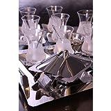 Sedir Tee Service Set Servierplatte Poliert Edelstahl Küchenplatte 40 teile gläser