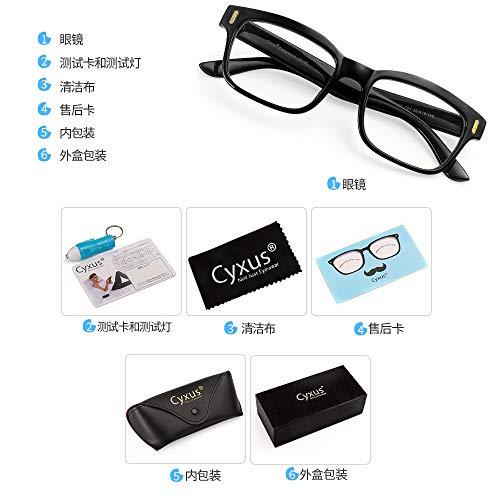 Cyxus lumière Bleue Lunettes [Transparent Lentille] Anti Fatigue oculaire, Grande pour Les lecteurs d'ordinateur/téléphone Portable/Jeu 8084... 10