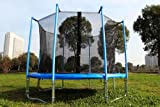 FA Sports Gartentrampolin mit Sicherheitsnetz Flyjump Monster II blau 366 cm - 11