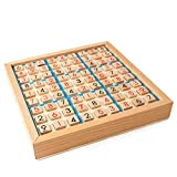LJSHU Puzzle Board für Kinder am frühen Bildungsbereich Wooden Nine Square Grid Digital Combination Chess Game