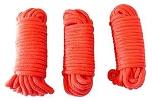 douce servitude 3x 10m 8mm corde de coton rouge