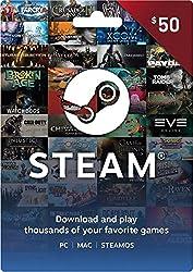 Steam Wallet Gift Card - $50