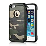 Apple iPhone SE 5 5S Handy Tasche Outdoor Case TPU Hybrid Camouflage Tarnmuster Hülle Grün