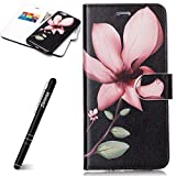 "iPhone 6 Plus H�lle Leder,iPhone 6S Plus Schutzh�lle Silikon,Slynmax Gemalt 2 in 1 Ledertasche Wallet Case PU Leder Flip Wallet Cover in Book Style Stand Case Card Slot Leder Tasche Case Karteneinschub TPU Innen 2 Combo Schutzh�lle Klapptasche Etui Separate Brieftasche Flip Buchstil Schale Weichen Silikon Magnetverschlu� mit Kartensteckpl�tze und Standfunktion Handyh�lle f�r iPhone 6 Plus/iPhone 6S Plus 5.5"",Eine Blume (2 in 1) Bild"